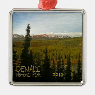 Denali National Park in Alaska Metal Ornament