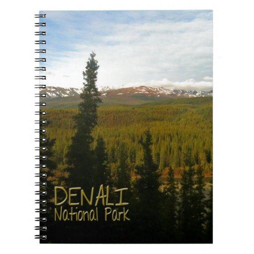 Denali National Park in Alaska Spiral Notebook
