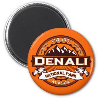 Denali National Park Logo 2 Inch Round Magnet