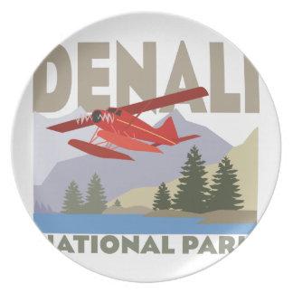 Denali National Park Melamine Plate