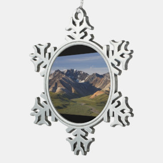 Denali National Park Snowflake Pewter Christmas Ornament
