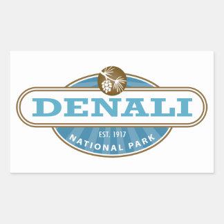 Denali National Park Rectangular Stickers