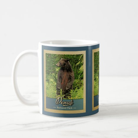 Denali National Park Vintage Bear Coffee Mug