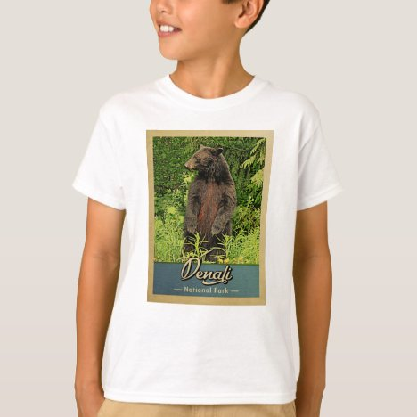 Denali National Park Vintage Bear T-Shirt