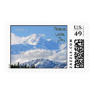 Denali - Peace Love Joy Greeting Postage Stamp