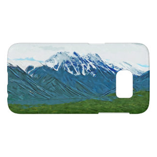 Denali With Rivers Alaska Abstract Impressionism Samsung Galaxy S7 Case