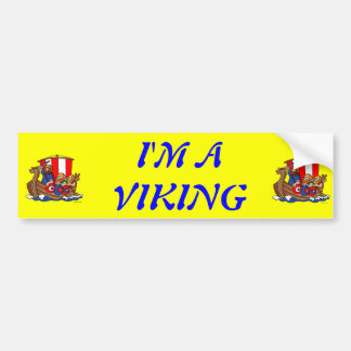 Denamrk- I'M A VIKING Bumper Sticker
