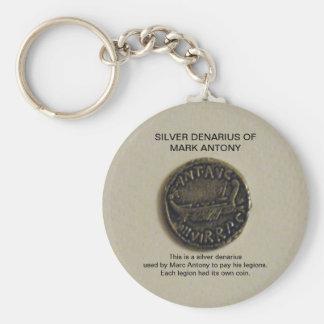 Denario de plata de llavero de la foto de Marc Ant