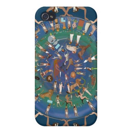 Dendera Zodiac Temple of Hathor Case For iPhone 4