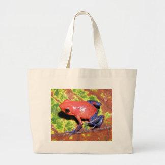 Dendrobates pumilio - Strawberry Poison Dart Frog Jumbo Tote Bag