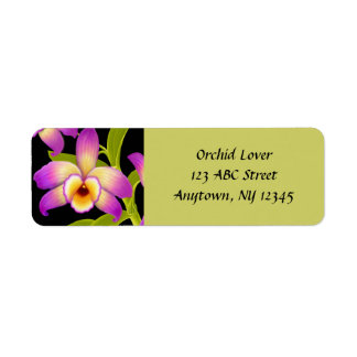 Dendrobium Nobile Orchid Customizable Avery Label