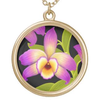 Dendrobium Nobile Orchid Flower Necklace