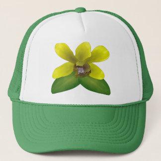 Dendrobium Orchid Trucker Hat