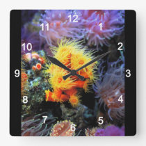 Dendrophyllia arbuscula square wall clock