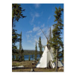 Dene Tribe gathering, Northwest Territories, Postcard