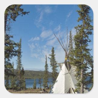Dene Tribe gathering, Northwest Territories, Square Sticker