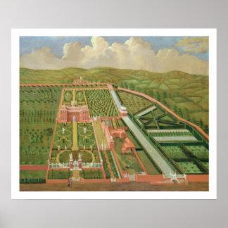 Denham Place, Buckinghamshire, c.1695 (oil on canv Poster