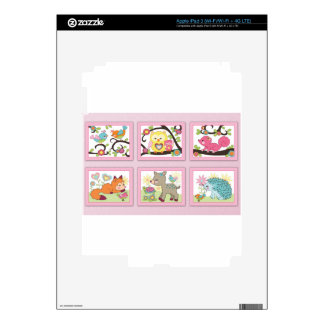 Deni HAPPY FRIENDS Decal For iPad 3