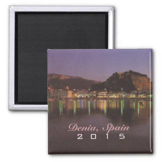 Denia Spain Travel Souvenir Magnet Change Year