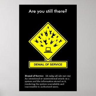 Denial of Service Security Awareness Poster