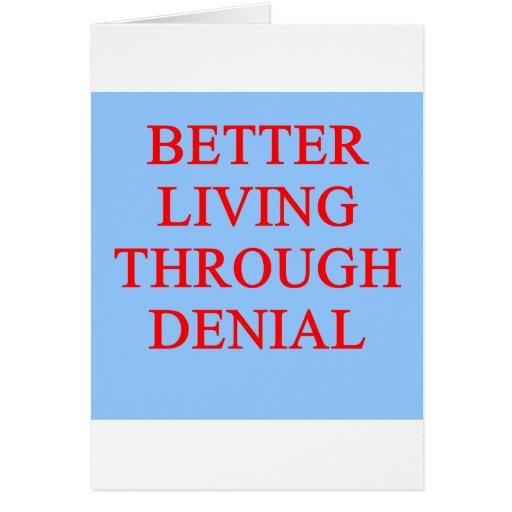 DENIAL proverb Card