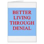 DENIAL proverb Greeting Card