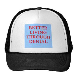 DENIAL proverb Mesh Hat