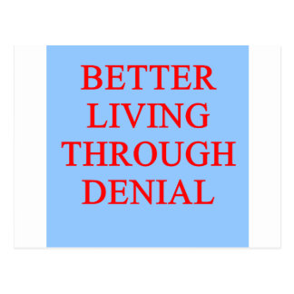 DENIAL proverb Postcard