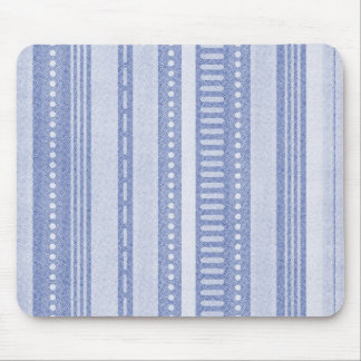 Denim Abstract Stripe Mouse Pad