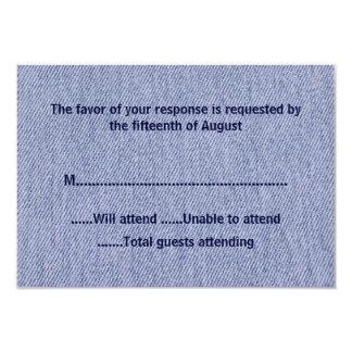 Denim All Purpose Response Card