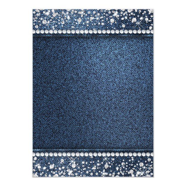 Denim and diamonds invitations 9363560 emmastoneinfo