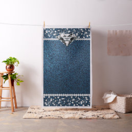 Denim and Diamond Photo Backdrop Photo Booth