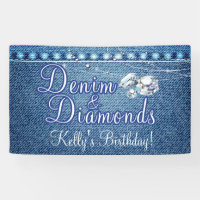 Denim and Diamonds Party Banner