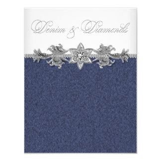 Denim and Diamonds Party Card