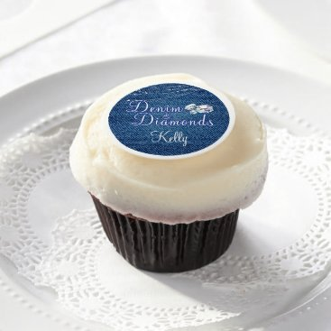 MetroEvents Denim and Diamonds Party Edible Frosting Rounds