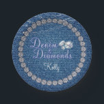 "Denim and Diamonds Party  Plates<br><div class=""desc"">Denim and Diamonds Party Supplies and Decorations. Additional Denim and Diamonds Party Decor items available at Metro-Event.com and Metro-events on Zazzle</div>"