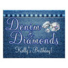 Denim and Diamonds Party Poster
