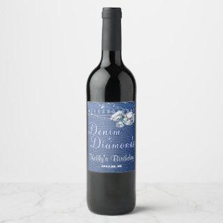 Denim and Diamonds Wine Label