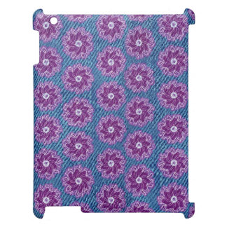 Denim and flowers patterned case for the iPad