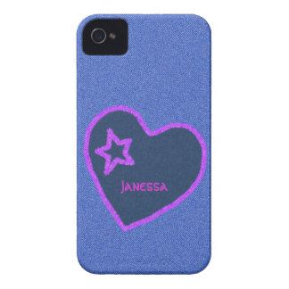 Denim and Heart iPhone Case