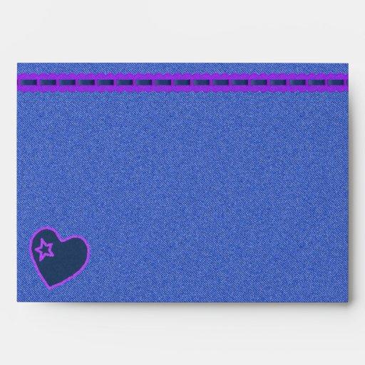 Denim and Purple Envelope