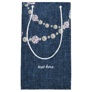 Denim Bag Blue Birthday Party Gift