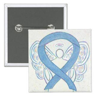 Denim Blue Angel Awareness Ribbon Custom Pins