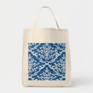 Denim Blue Bold Damask w/ name @ Emporiomoffa Tote Bag