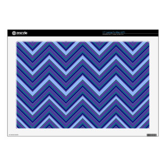 "Denim Blue Chevrons 17"" Laptop Decals"