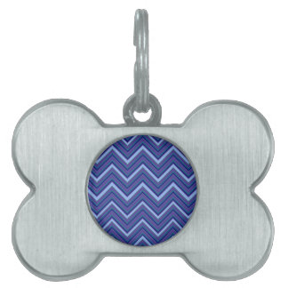 Denim Blue Chevrons Pet Tag