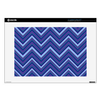 Denim Blue Chevrons Skin For Laptop