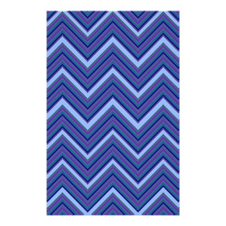 Denim Blue Chevrons Stationery