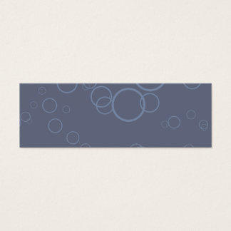 Denim Blue Circle Bubble Mini Business Card