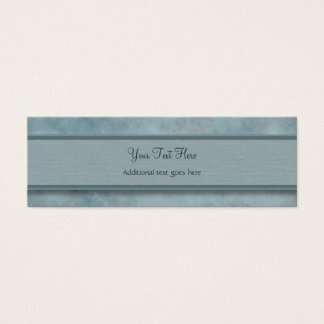 Denim Blue Feather Pattern with Monogram Mini Business Card